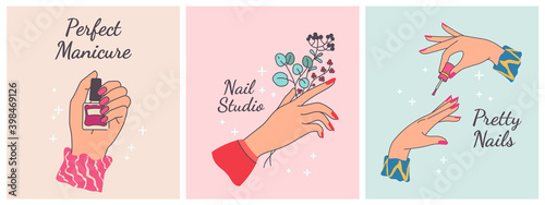 Slika na platnu Nail manicure print