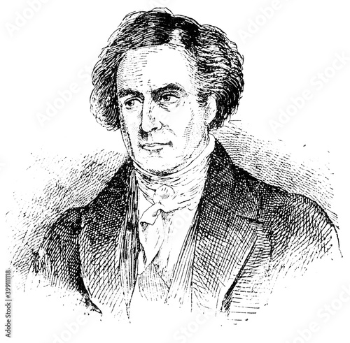 Photo Portrait of Dominique Francois Jean Arago - a French mathematician, physicist, astronomer, freemason, and politician
