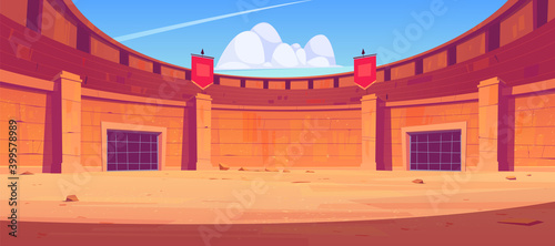 Leinwand Poster Ancient roman arena for gladiators fight