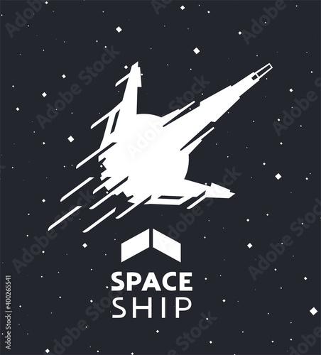 Creative design of spaceship illustration фототапет