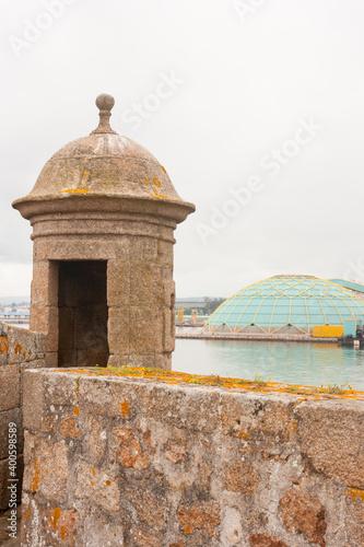 Sentinel sentry box in the castle of San Anton in Coruña