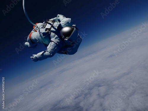 Wallpaper Mural Astronaut above the clouds