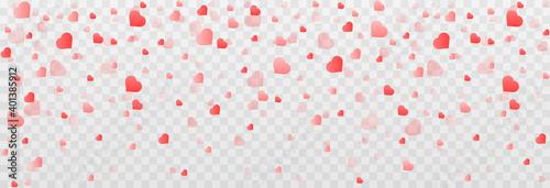 Carta da parati Vector confetti made from hearts