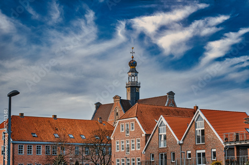 Fotografia, Obraz The buildings in the city of Emden, Germany