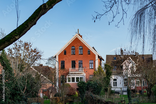 Canvastavla The buildings in the city of Emden, Germany