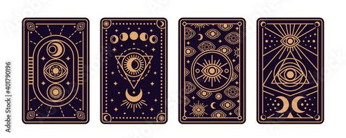 Obraz na płótnie Magical tarot cards deck set