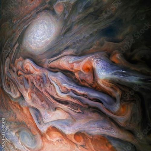 Fotografie, Obraz The incredible beauty of Jupiter's atmosphere
