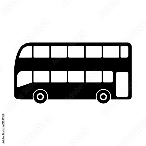 Canvastavla Double decker bus icon