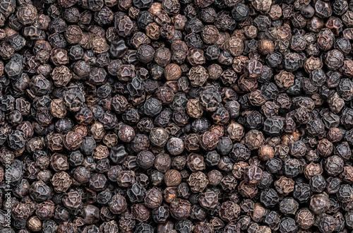 Carta da parati Seamless endless pattern of black pepper corn