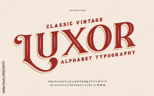 Classic typography elegant Fototapeta