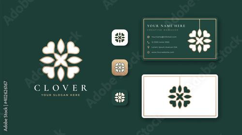 Fotografía luxury clover logo design