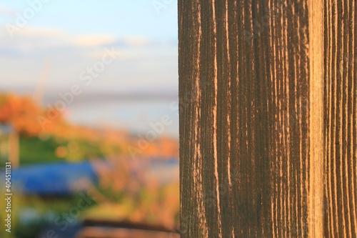 Close-up Of Wood Against Sky Fototapet