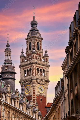 Fényképezés The belfry of the Chamber of Commerce in Lille, France