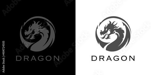 Carta da parati Dragon tattoo logo