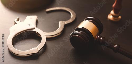 Crime and violence concept with handcuffs Tapéta, Fotótapéta