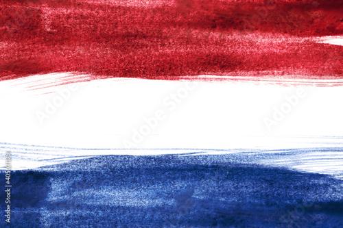 Wallpaper Mural Painted Dutch flag