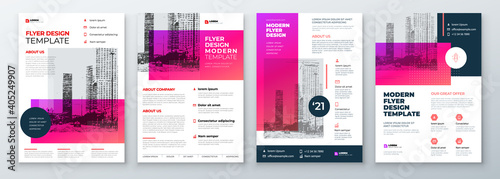 Fotografia Flyer Design Set