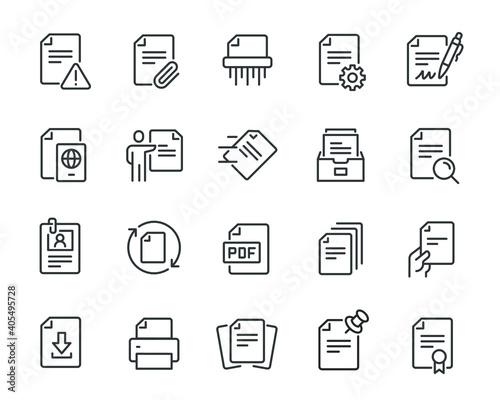 Fotografie, Tablou Document icons set