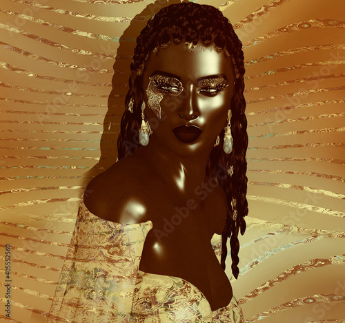 Valokuvatapetti African Queen, Fashion Beauty