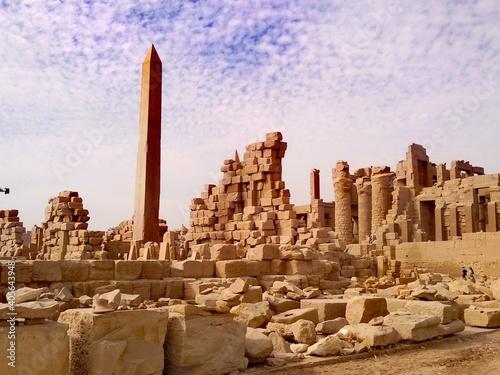 Stampa su Tela Old Ruins Of Building Against Sky