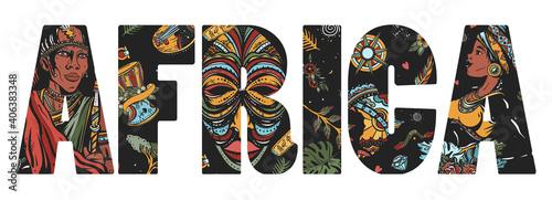 Vászonkép Africa slogan