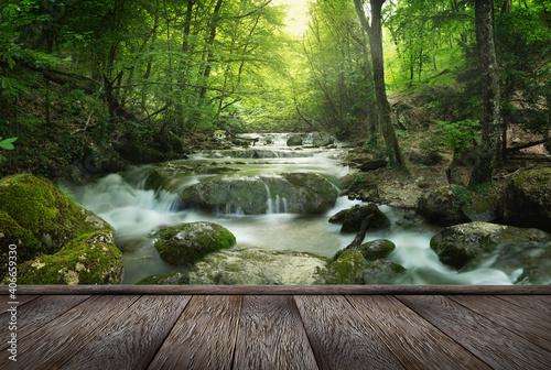 Fotografia, Obraz forest waterfall