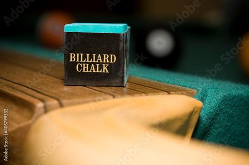 Fototapeta Biliard Chalk