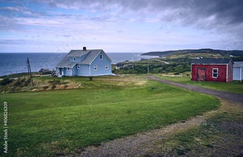 Canvastavla haus auf cape breton island