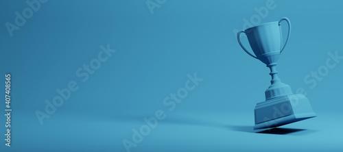 Photo blue trophy cup