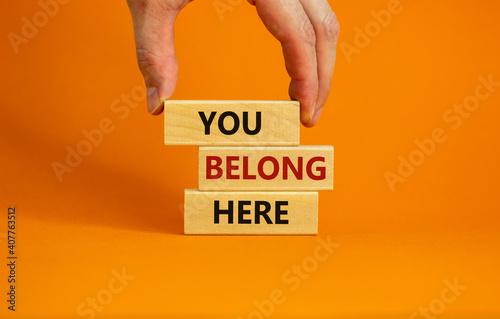 Fotografie, Obraz You belong here symbol