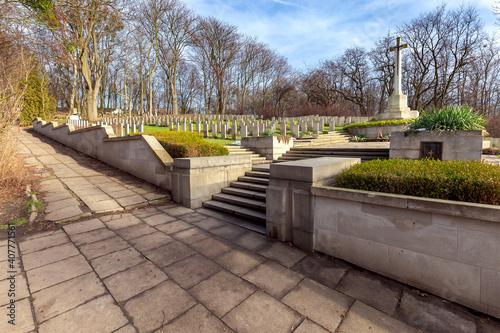 Obraz na płótnie Poznan. Park memorial citadel.