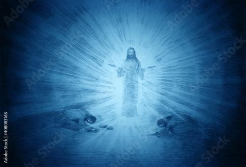 Stampa su Tela the transfiguration of jesus on Mount Tabor