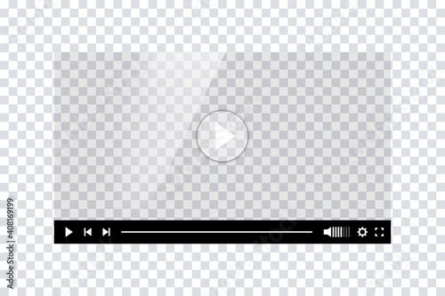 Video player template interface Fototapeta