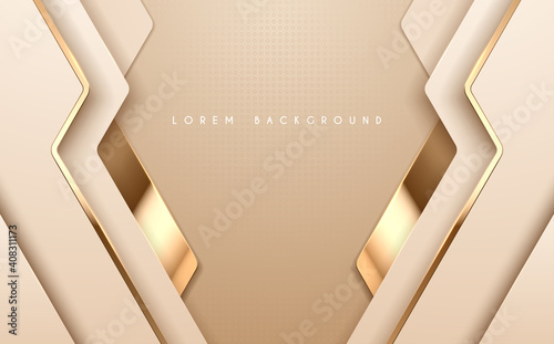 Abstract gold and white luxury background