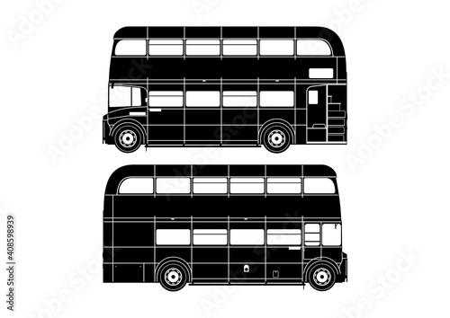 Fotografiet Double decker bus