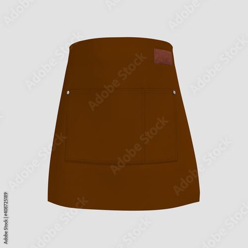 Canvas Print Blank waist aprons, apron mockup, clean apron, design presentation for print, 3d