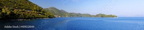 Sea coast of Mljet island in Croatia