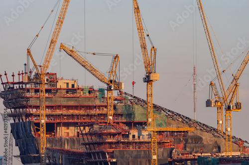 Wallpaper Mural Shipyard during work