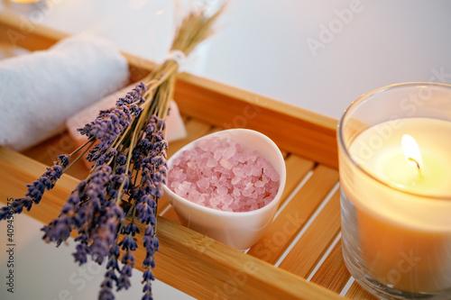 Canvas Print Spiritual aura cleansing ritual bath for full moon ritual