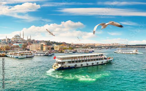 Billede på lærred View of Suleymaniye Mosque