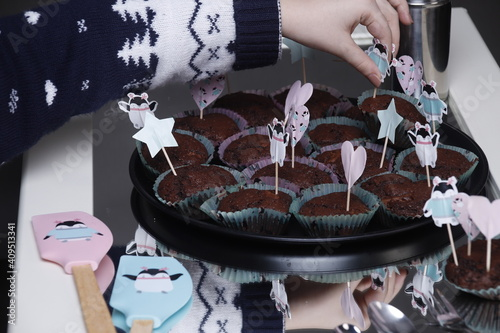 Photo Przyjęcie urodzinowe dziecka muffiny