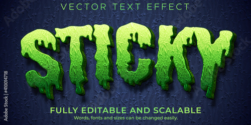 Wallpaper Mural Sticky zombie text effect, editable monster and scary text style