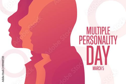 Obraz na plátně National Multiple Personality Day