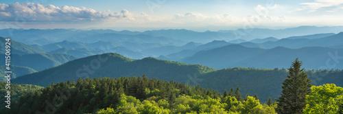 Photographie Blue Ridge Parkway summer Landscape