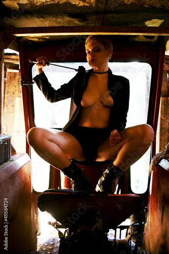 Fotografija Young Seductive Woman In Motor Home
