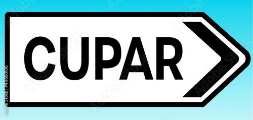 Fototapeta Cupar Road sign