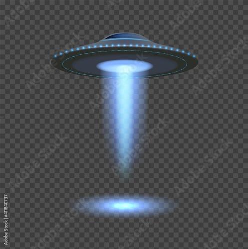 Leinwand Poster Blue ufo lights