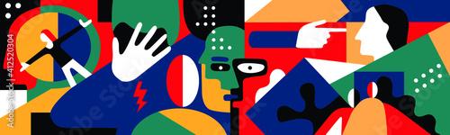 Fotografia psychology - abstract vector illustration