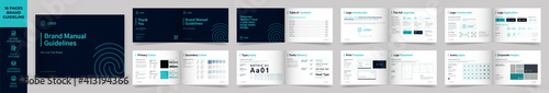 Photo Landscape Brand Manual Template, Simple style and modern layout Brand Style , Br