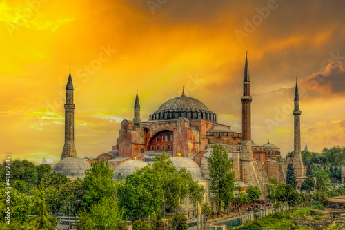 Hagia Sophia view in Istanbul Fototapeta
